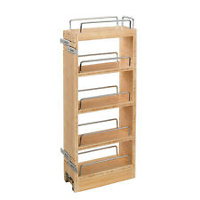 Rev A Shelf 8 Inch Pull Out Wood Base Kitchen Cabinet Organizer (Open Box)