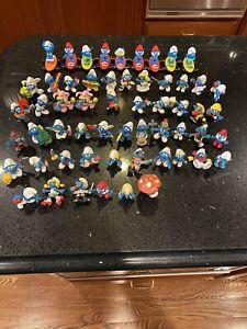 Lot Of 57 Vintage Smurfs PVC Figures Toys 70's 80s Peyo Schleich