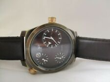 JF Watch, Multi Dial, Black Buckle Band, WORKING!
