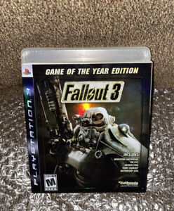 Fallout 3 GOTY NEW SEALED! PS3 BLACK LABEL W/HOLO SLEEVE Sony PlayStation 3 Read