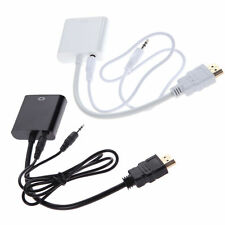 HDMI to VGA Adapter Converter Cable With Audio Stereo Sound aux cable
