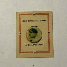 1938  PM8 Our National Game HAROLD TROSKY  Baseball Tab Button Cleveland Indians