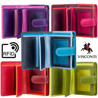 Visconti Women's Gift Boxed Small Real Leather 9 Card Purse Wallet RFID RB40