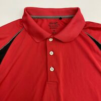 Snake Eyes Polo Shirt Mens XXL Red Short Sleeve Casual Polyester Golf