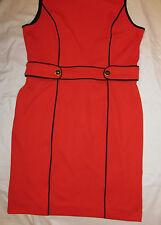 BANANA REPUBLIC bright red sleevelss mod retro go go shift dress 14 NWT
