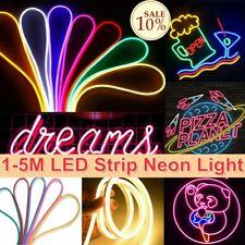 LED Strip Neon Flex Rope Light Waterproof DC 12V Flexible Outdoor Lighting UK