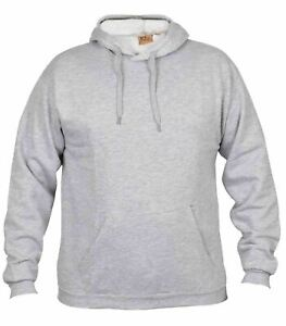 Mens Hoodies Plain Pullover Long Sleeve Warm Casual Sweatshirt Jumper Hooded Top