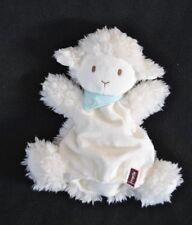 Peluche doudou marionnette mouton blanc KALOO 2013 écharpe foulard bleu NEUF