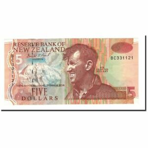 [#562558] Banknote, New Zealand, 5 Dollars, 1992-1997, KM:177a, UNC(60-62)