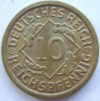 Alto ! 10 Reichspfennig 1930 A IN Brillant uncirculated
