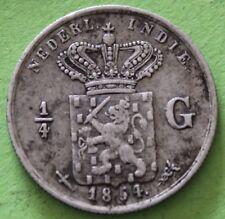 NETHERLANDS INDIES 1/4 GULDEN 1854