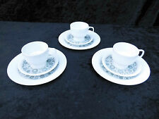 3 Gedecke Rosenthal Modulation Sinfonie grau Tasse Untertasse Frühstücksteller