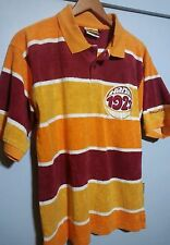 Vintage Harlem Globetrotters 1927 Platinum Fubu Polo Shirt Xl Orange white new