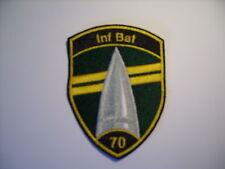 Schweizer Armee 21 Aufnäher  Inf Bat 70 in schwarz     9 x7 cm