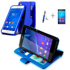BLUE Wallet 4in1 Accessory Bundle Kit S TPU Case Cover For SONY XPERIA Z4