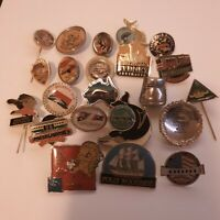 Lot Of Vintage Pins And Buttons Collection Australia Travel Collectable Rare