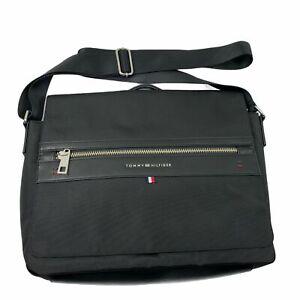 Tommy Hilfiger Mens Push-Lock Leo Messenger Bag Black OS