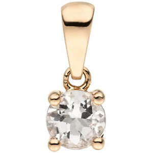 Pendant Solitaire Pendant With Pink Morganite, 585 Gold Rose Gold