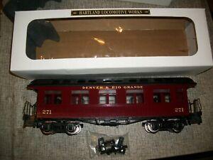 HARTLAND TRAIN WORKS, DENVER RIO GRANDE , PASSENGER CAR..  G SCALE-