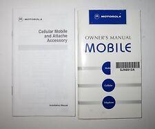 Vintage Rare Set of Motorola SJN6912A Owner's & Installation Manuals