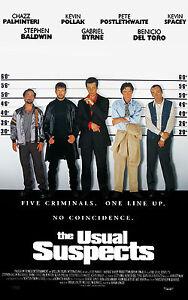 Encadré Imprimé - The Habituel Suspects Film Affiche (Blu-Ray Image Kevin