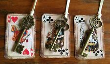 Alice in Wonderland 12 party favors tags with key