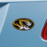 Missouri Tigers Heavy Duty Metal 3-D Color Auto Emblem