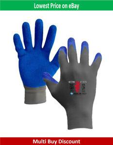 SKY Workwear 15 Gauge Latex Wrinkle Open Work Glove for Multi Purpose Use