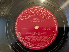 "MUGGSY SPANIER COMMODORE 1519 Memphis Blues Sweet Sue Jazz 78 12"" E+"