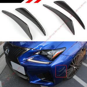 4 Pcs Carbon Fiber Bumper Fender Side Shark Fins Canards Splitters For Lexus