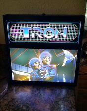 TRON Mini Arcade Marquee and Movie Scene Illuminated Lightbox Sign