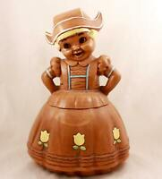 Twin Winton Dutch Girl Cookie Jar. California Pottery.