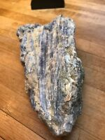Rare Blue & Black Kyanite Crystal Gemstone With Calcite Mica & Clear Quartz  221