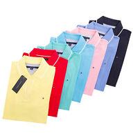 Tommy Hilfiger Women's Short Sleeve V-Neck Logo Polo Shirt - Free $0 Ship