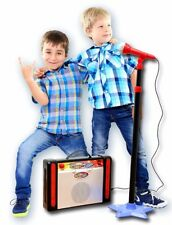 My First Karaoke Adjustable Microphone Speaker Kids Sing Along Connect Mp3 - New