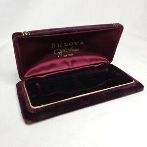 Vintage Bulova Watch Velvet Presentation Box Only Fifth Avenue New York