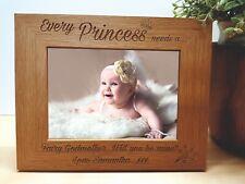 Personalised Photo Frame & Plaque New Baby Keepsake Godparents