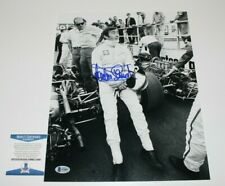 JACKIE STEWART FORMULA 1 LEGEND HAND SIGNED 11x14 PHOTO 1 BECKETT BAS COA PROOF