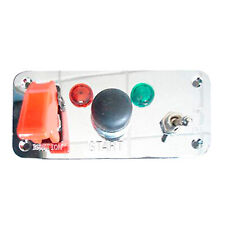 Competition Switch Panel 5 Hole Starter Push Button Ignition Switch & Light