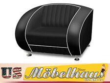 SF-01-Bl Bel Air Fifties Style Designer Sofa Wohnzimmer Sessel Retro 50er Jahre