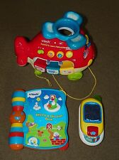 3 VTECH Activity Toys EXPLORE & LEARN HELICOPTER Sounds Nursery Rhymes PHONE