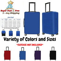 """Suitcase Zipper Cover Fits 19-32"""" Travel Luggage Carry On Bag Spandex Protector"""