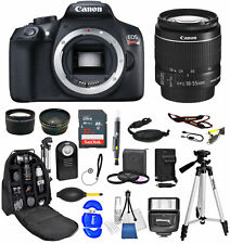 Canon EOS Rebel T6 DSLR Camera w/ 18-55mm Lens+32GB Backpack Bundle *Brand New*