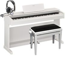 Yamaha YDP-144 WH E-Piano in weiss im Set mit Bank und Kopfhörer