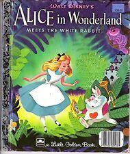 Little Golden Book, Alice in Wonderland Meets the White Rabbit by Jane Werner