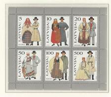 LATVIA # 348 MNH TRADITIONAL COSTUMES 1993  Souvenir Sheet of Six (6)