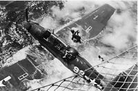 WWII B&W Photo US Navy TBM Avenger Ditched  WW2 World War Two  /5062
