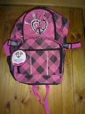 Pro Sports Forever Love Back Pack Black Pink Heart Peace Sign Sport