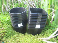 5 X 11cm new square plastic aquatic pots baskets for water plants and pond