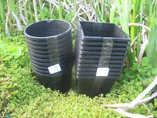5 X 13cm new round plastic aquatic pots baskets for water plants and pond
